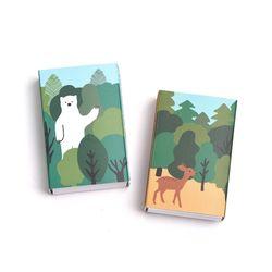 브리스크스타일 성냥(Little forest DeerBear Set)