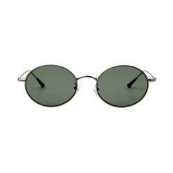 Dominik Silver Dark Green Lens