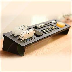 런메이크 모니터 보조 받침대-원목 거치대 선반 수납 사무용품