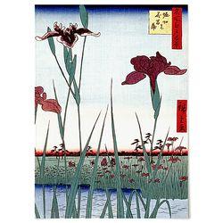 중형 패브릭 포스터 F265 일본 명화 꽃 그림 천 액자 히로시게 C