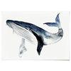 중형 패브릭 포스터 F274 동물 아이방 그림 액자 고래 ver3