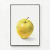 메탈 인테리어 그림 황금 행운 포스터 액자 사과 [대형]
