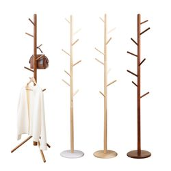 [2020쿠폰] 고무나무 원목 스탠드 옷걸이 택1