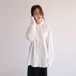 loose fit pocket shirt (3colors)