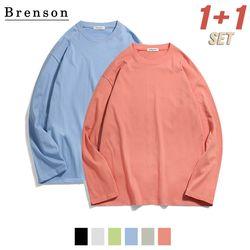 [1+1] [패키지] 20s 코튼 essential 오버핏 롱슬리브 티셔츠