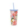 SIP SIP TUMBLER WITH STRAW - FLOWER SHOP