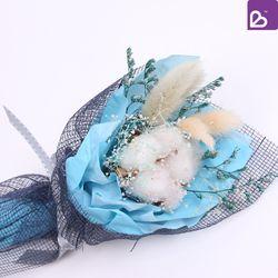 프리저브드플라워 미니 꽃다발 스카이블루 꽃선물