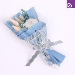 프리저브드플라워 미니 꽃다발 스틸블루 꽃선물