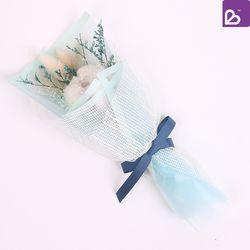 프리저브드플라워 미니 꽃다발 파우더블루 꽃선물
