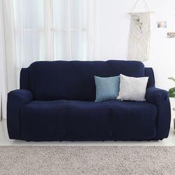 소파 커버 3인 만능 쇼파 덮개 패드 (Blue)