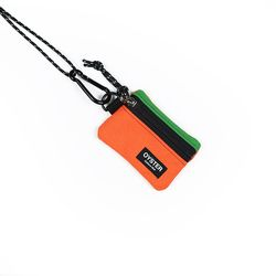 OCC 목걸이 동전지갑 & 카라비너 그린 오렌지 캔버스