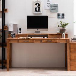 헤나 원목 컴퓨터 책상 세트 A 1500