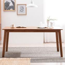 헤나 고무나무 원목 6인용 식탁 테이블