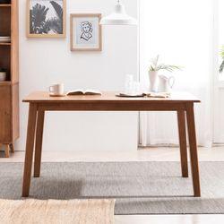 헤나 고무나무 원목 4인용 식탁 테이블