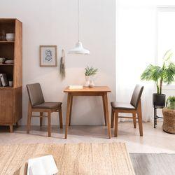 헤나 엠 고무나무 원목 2인용 식탁 세트
