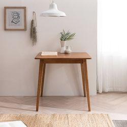 헤나 고무나무 원목 2인용 식탁 테이블