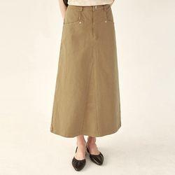 soap cotton A-line skirt (s m)
