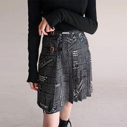 pleats detail mini skirt (3colors)