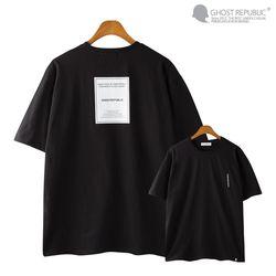 럭셔리 백 프린팅 오버핏 반팔티셔츠 GT-3155