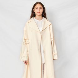 Wide Cape Trench Coat