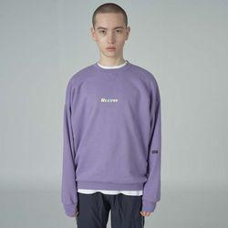 Overlap sweatshirt-purple