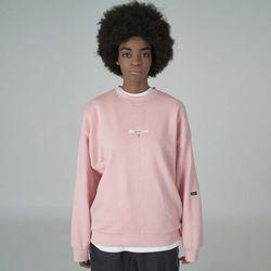 Overlap sweatshirt-pink