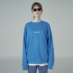 Overlap sweatshirt-blue