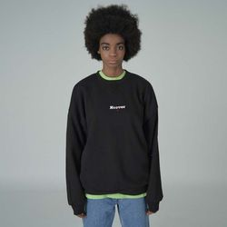 Overlap sweatshirt-black
