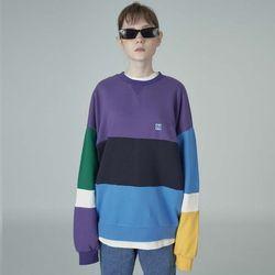 Combination sweatshirt-purple