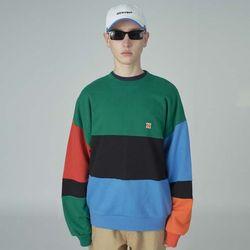 Combination sweatshirt-green