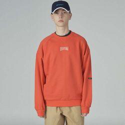 Basic cursor sweatshirt-orange