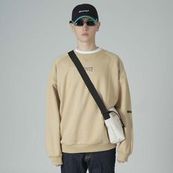 Basic cursor sweatshirt-beige