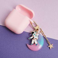 우주인과 핑크달 키링+케이스
