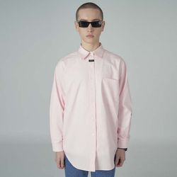 Neck cursor point shirt-pink