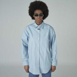 Neck cursor point shirt-lightblue