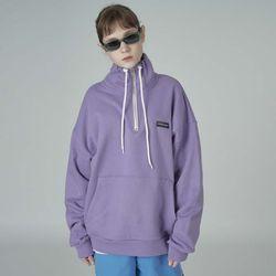 Cursive half zipup-purple