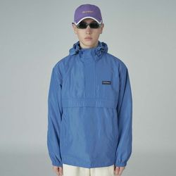 Cursive windbreaker-blue