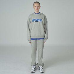 Cotton line training pants-gray