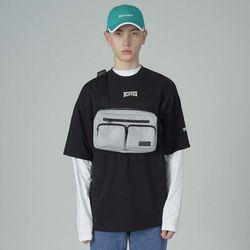 Two pocket waistbag-white