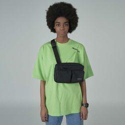 [예약판매 4/26 발송] Two pocket waistbag-black
