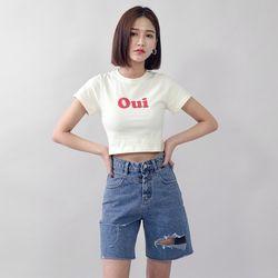 [로코식스] 오위 크롭 티셔츠