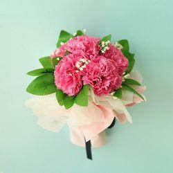 1AM 카네이션 비누 꽃 여섯송이 꽃다발
