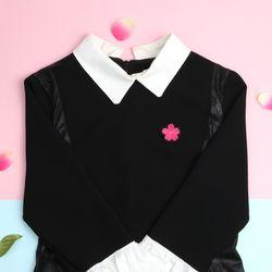 장미카네이션벚꽃 브로치