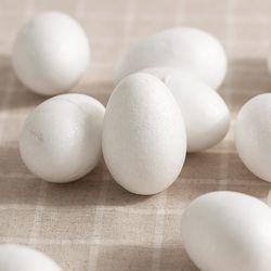 스티로폼 달걀 모형 10개(7cm)