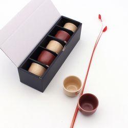 NEMO 달소금 예쁜 도자기술잔 열매 소주잔세트(5P)
