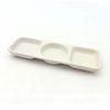 NEMO 달소금 도자기 나눔접시 3칸 소스그릇-크림화이트(무광)