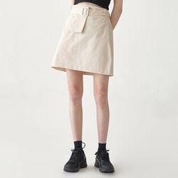 pocket belt mini banding skirt