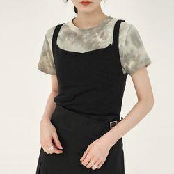 slit square neck sleeveless
