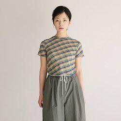 kitsch stripe crop top (2color)