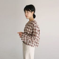 warm check cardigan (3colors)